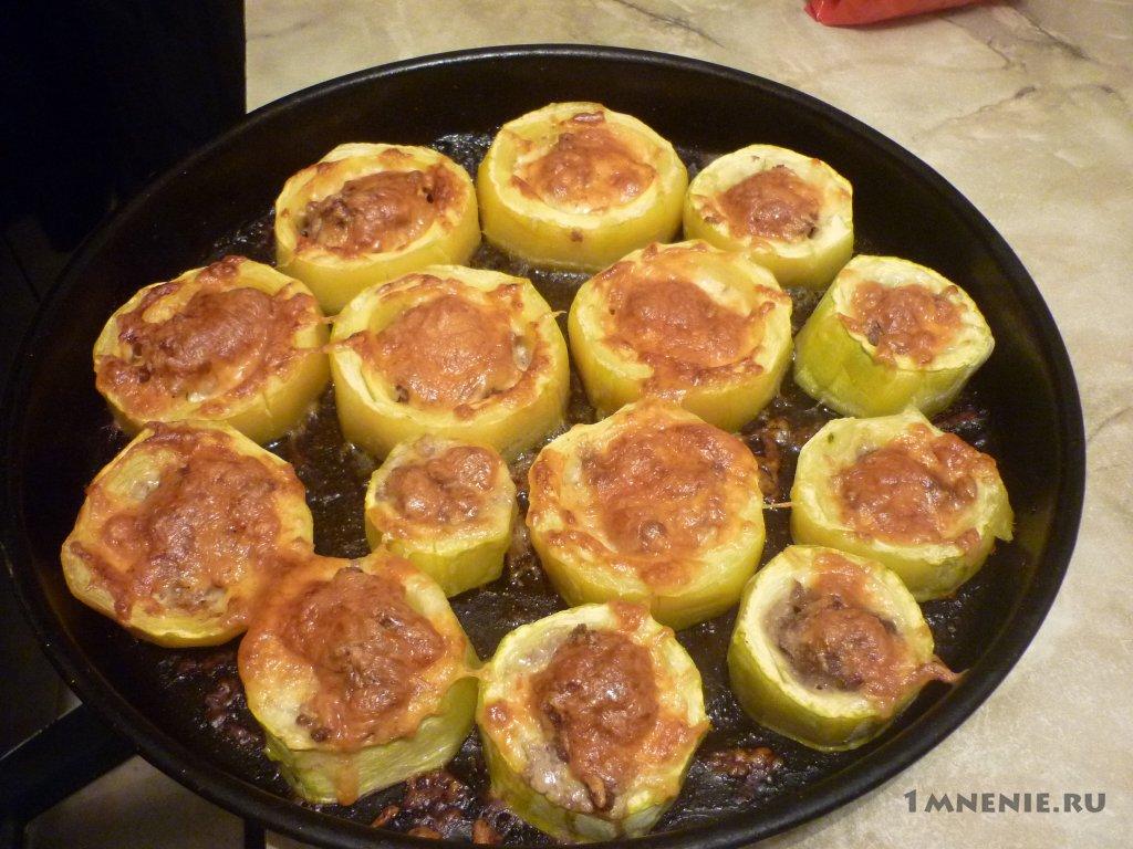 Рецепт с мяса кабачков запеченных в духовке