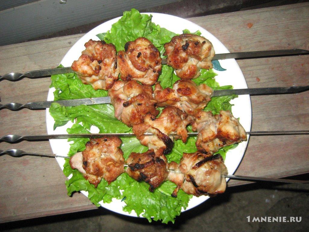 Рецепт быстрого приготовления шашлыка из курицы